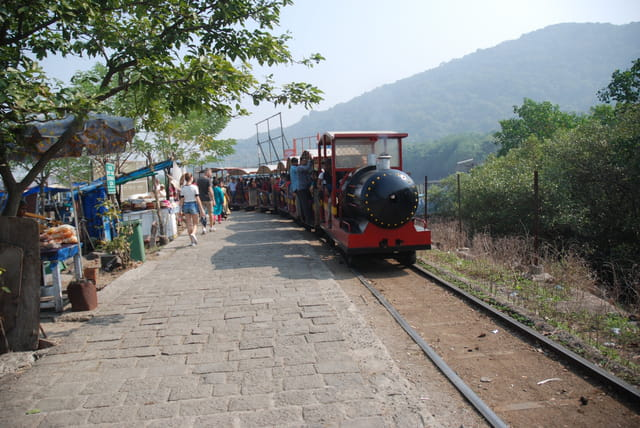 le petit train de l'île Eléphanta