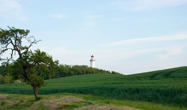 Le phare de Vesborg au sud-ouest de l'île de Samsø