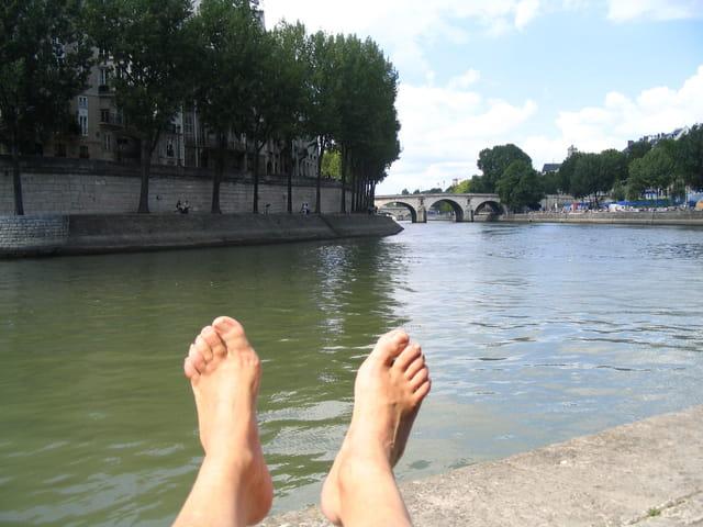 Le pied à Paris-plage