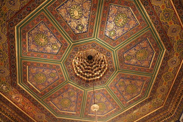 Le plafond du palais octogonal