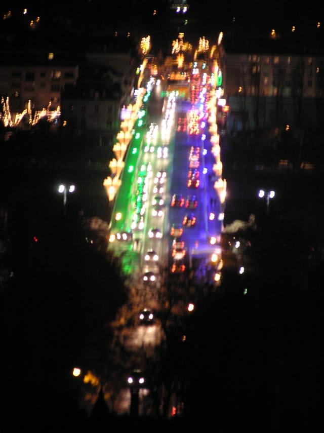 Le pont vert et bleu