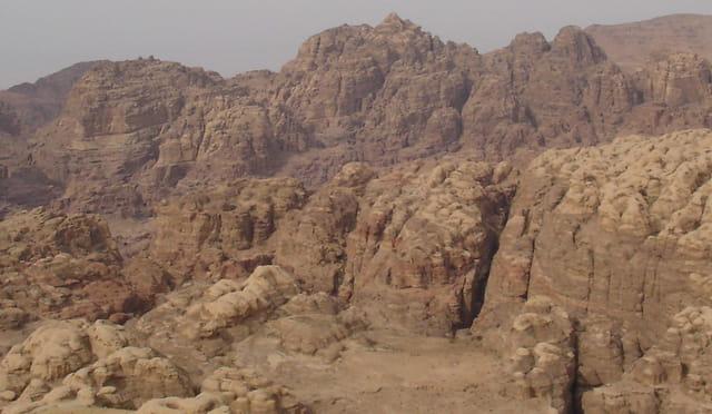 Le Siq: faille d'entrée de Petra