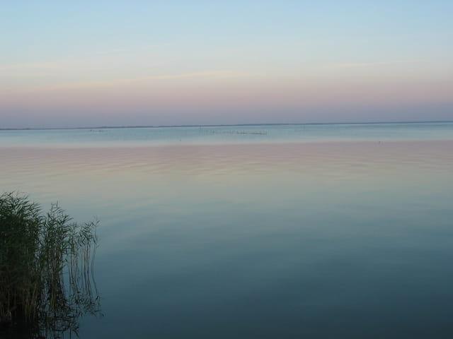 Le soir sur la lagune