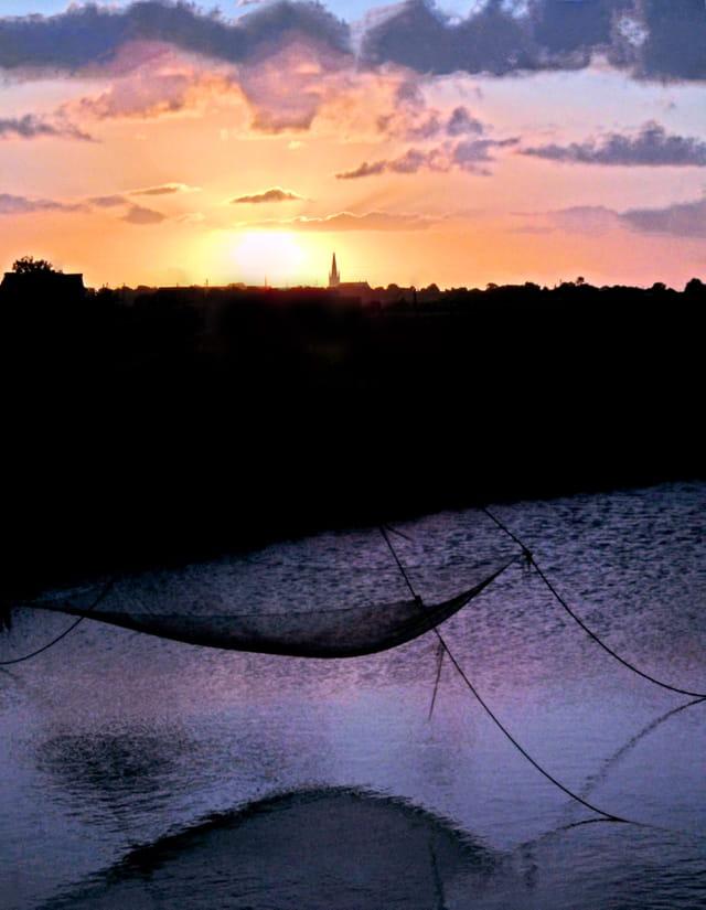 Le soleil a la pêche ce matin