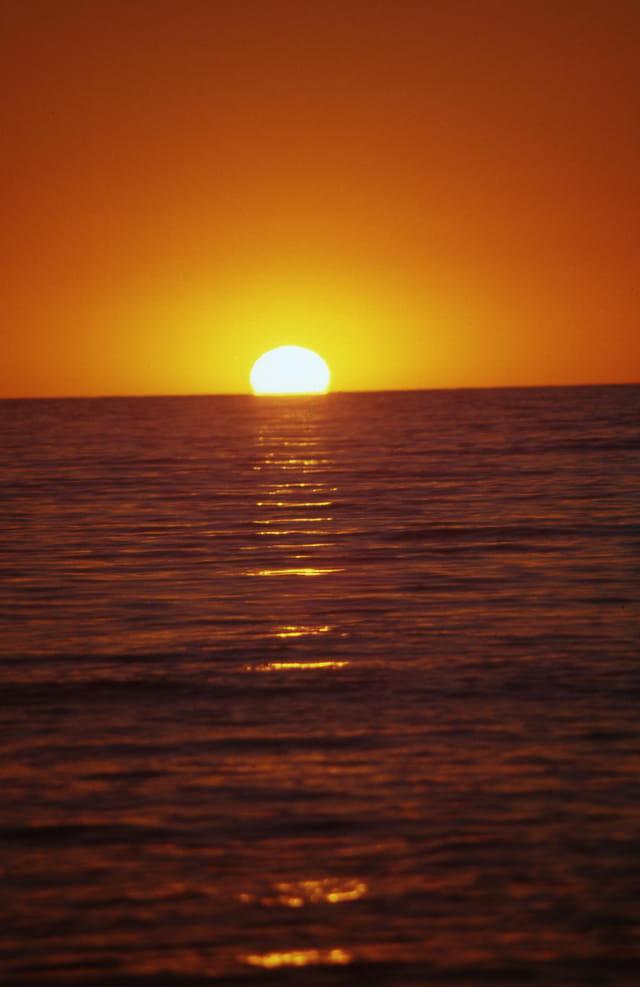 Le soleil dans l'eau
