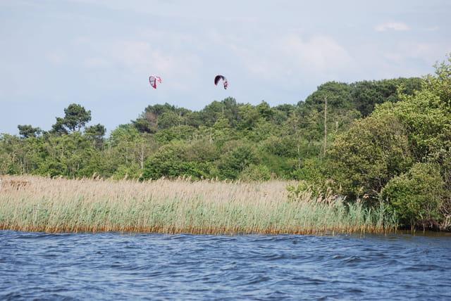 Le sport sur le lac sauvage