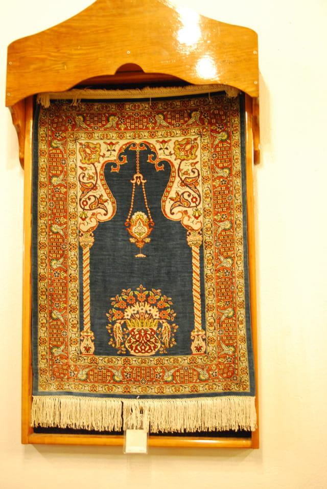 Le tapis de prière en soie turc