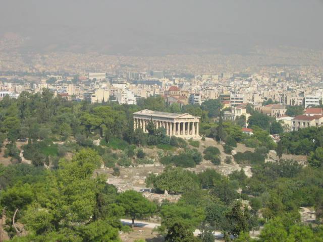 Le temple d'Athènes