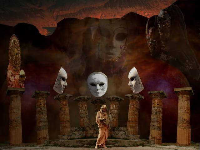 le temple du masque blanc