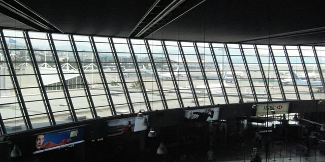 Le terminal 1 vu du terminal 2