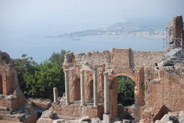 le théâtre greco-Romain de Taormine