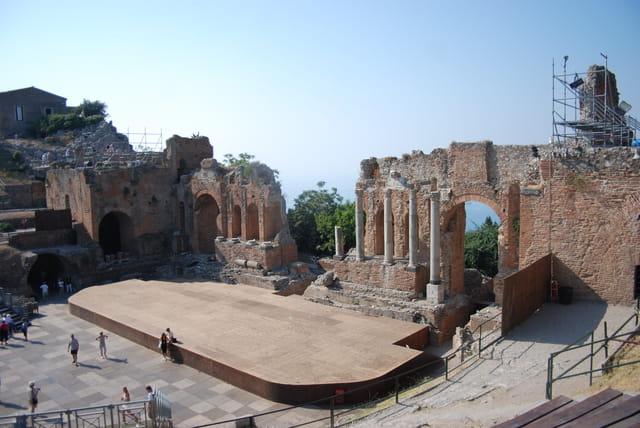 le théâtre gréco-Romain de Taormine
