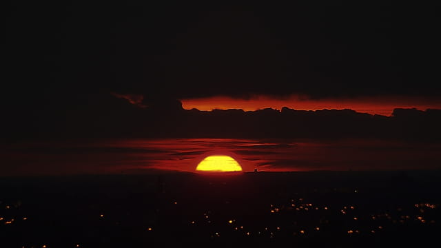 Le tout dernier coucher soleil