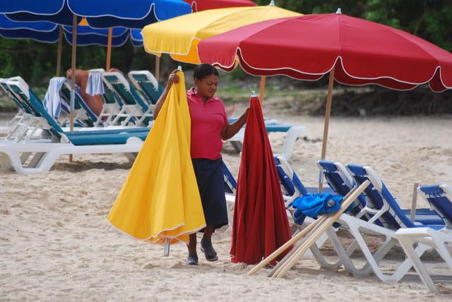 le travail à la plage