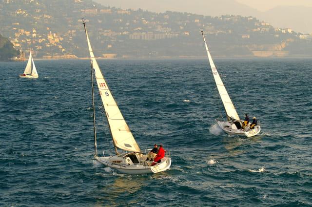 Le vent est présent pour la course
