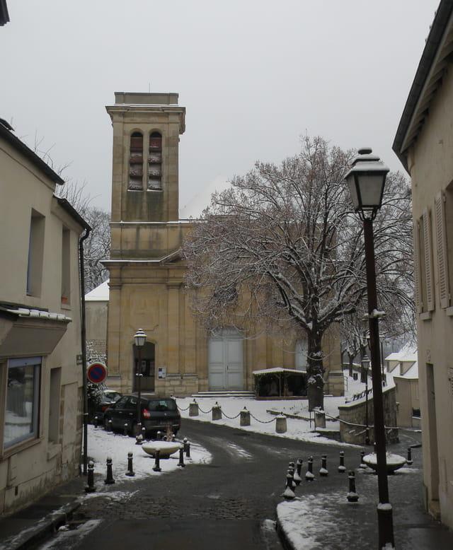 Le vieux Pecq sous la neige