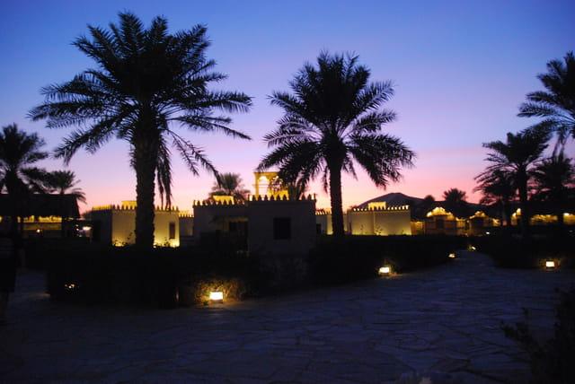 le village arabe dans le désert