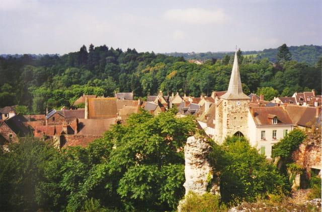 Le village vu du château