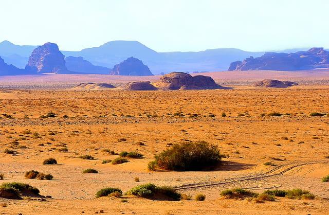 Le Wadi Rum, un désert très coloré.