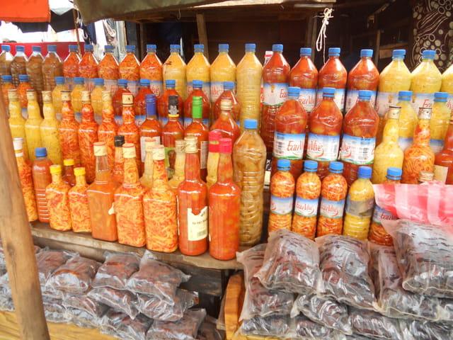 les achards en bouteilles de Madagascar