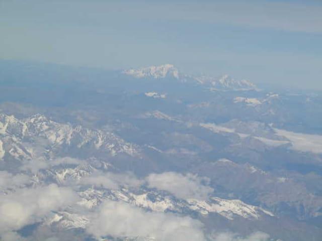Les Alpes vues d'en haut