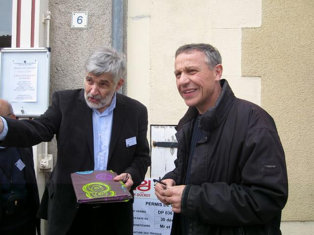 Les amis de Jacques Tati (Le Pecq) en visite à Sainte-Sévère-sur-Indre