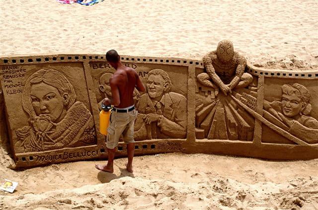 Les artistes sont sur la plage