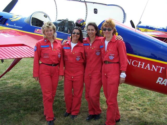 Les aviatrices de la patrouille Tranchant.