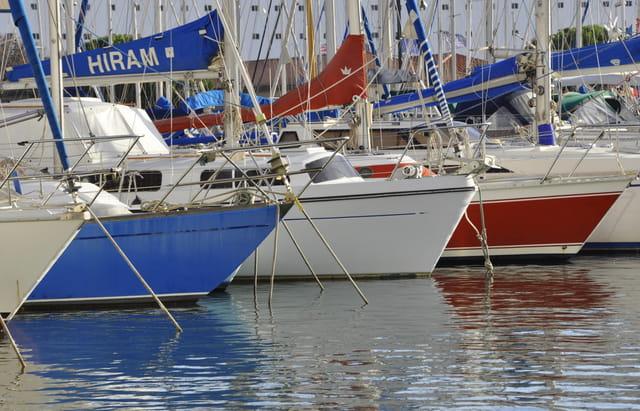 Les bateaux  bleu, blanc, rouge