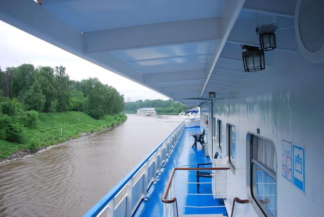 les bateaux sur la Moscova