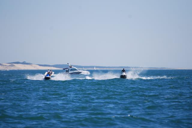 les bateaux sur le Bassin d'arcachon