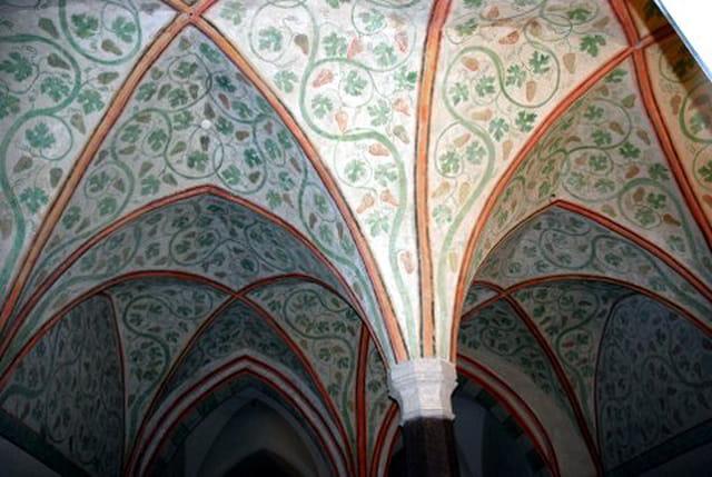 les beaux plafonds du château Teutonique