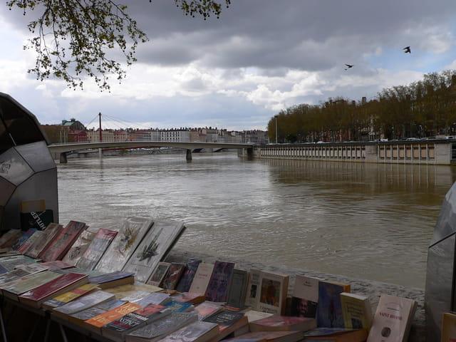 Les bouquinistes des quais de Saône.