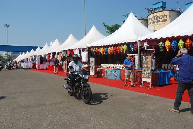 les boutiques du port de Cochin