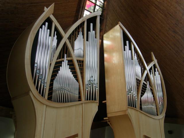 Les buffets de l'orgue de St Thibaut de Marly / Le Pecq