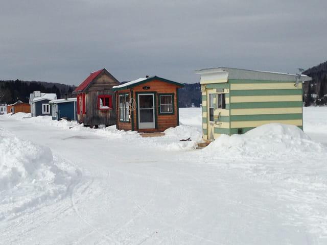 Les cabanes à pêche sur la glace