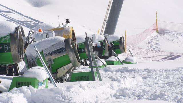 Les canons a neige au repos