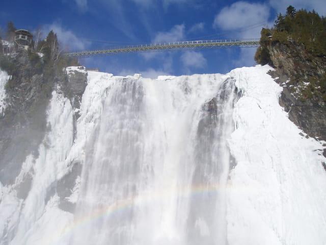 Les chutes de Montmorency prise par la glace