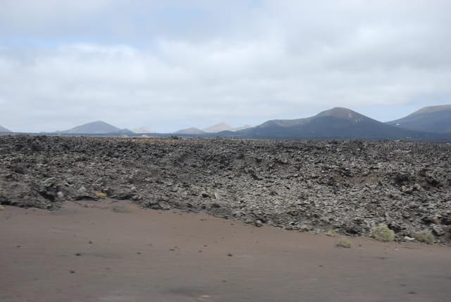 les coulées de lave de Lanzarote