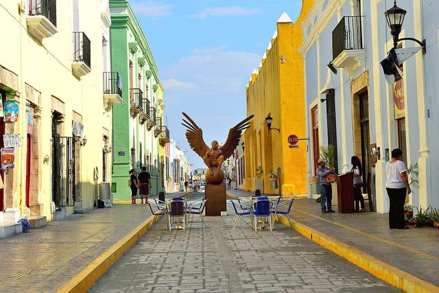 Les couleurs pastel de Campeche
