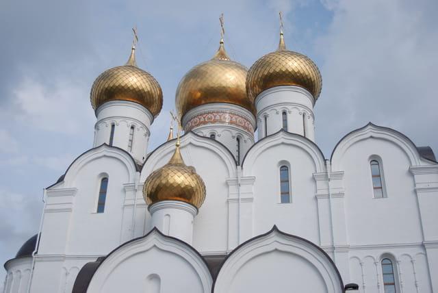 les coupoles de la cathédrale de la Dormition