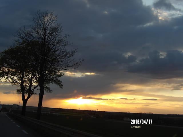 Les derniers rayons du soleil