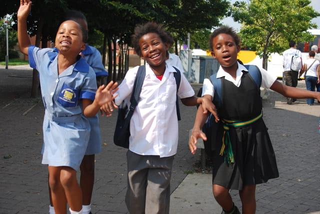 Les écoliers de Soweto