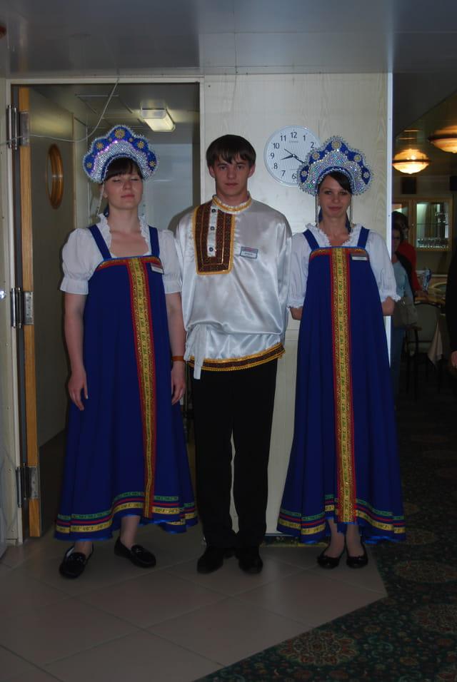 les employés du Sobolev, bateau russe