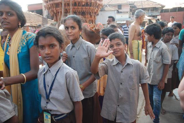 les enfants du Karnataka