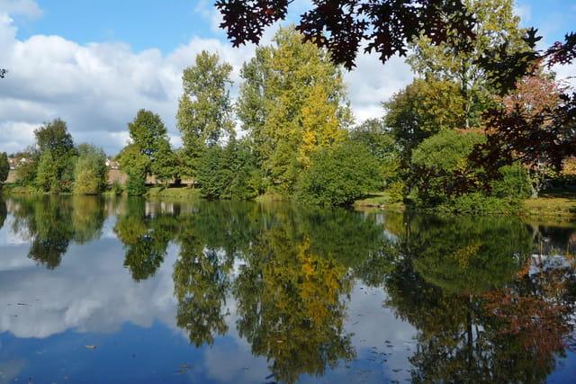 les étangs au début de l'automne