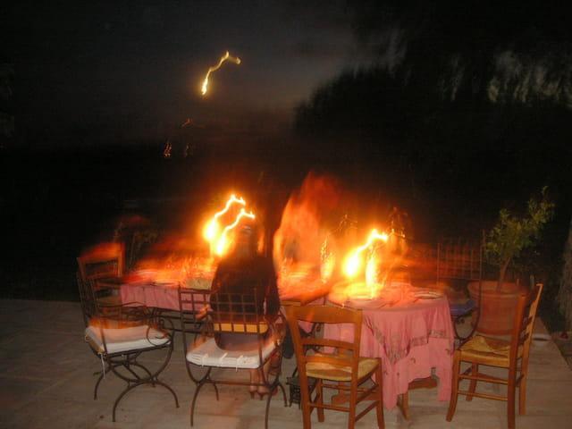 Les feux de la table