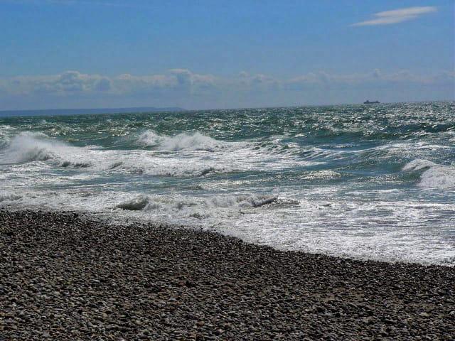 Les galets de la plage du Havre