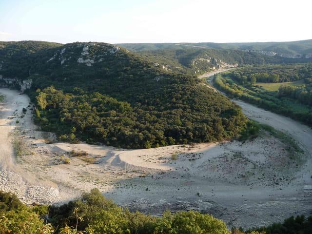Les gorges du Gardon au Castellas.