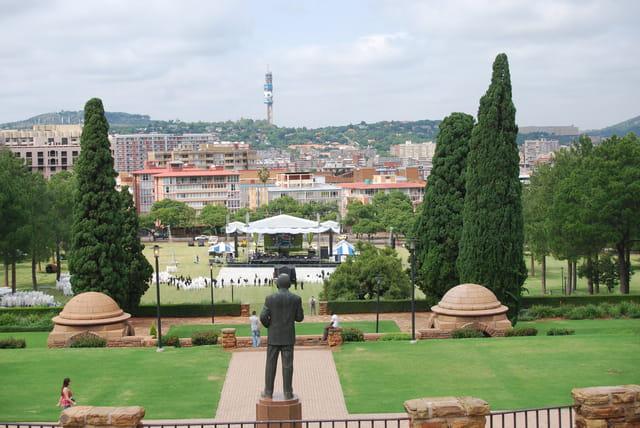 Les jardins de l'Union Buildings ou Parlement